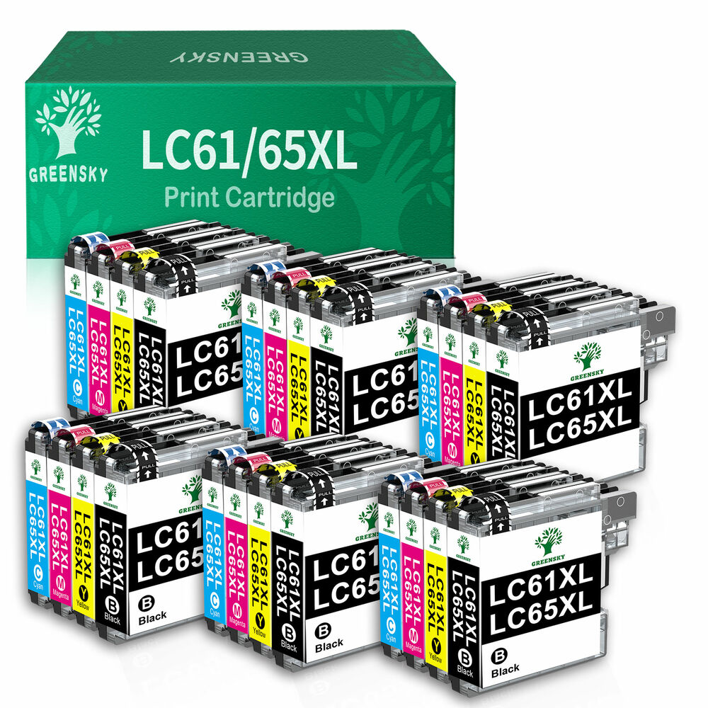 24 high yield ink lc61 lc65 for brother mfc j615w mfc 290c 257cw printer ebay. Black Bedroom Furniture Sets. Home Design Ideas