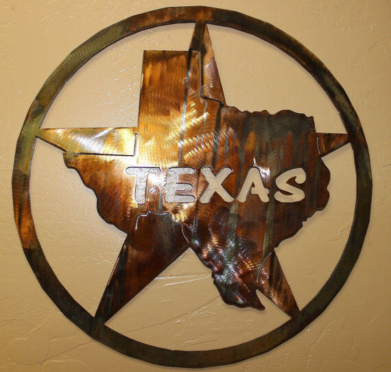 the texas star metal wall art decor ebay. Black Bedroom Furniture Sets. Home Design Ideas