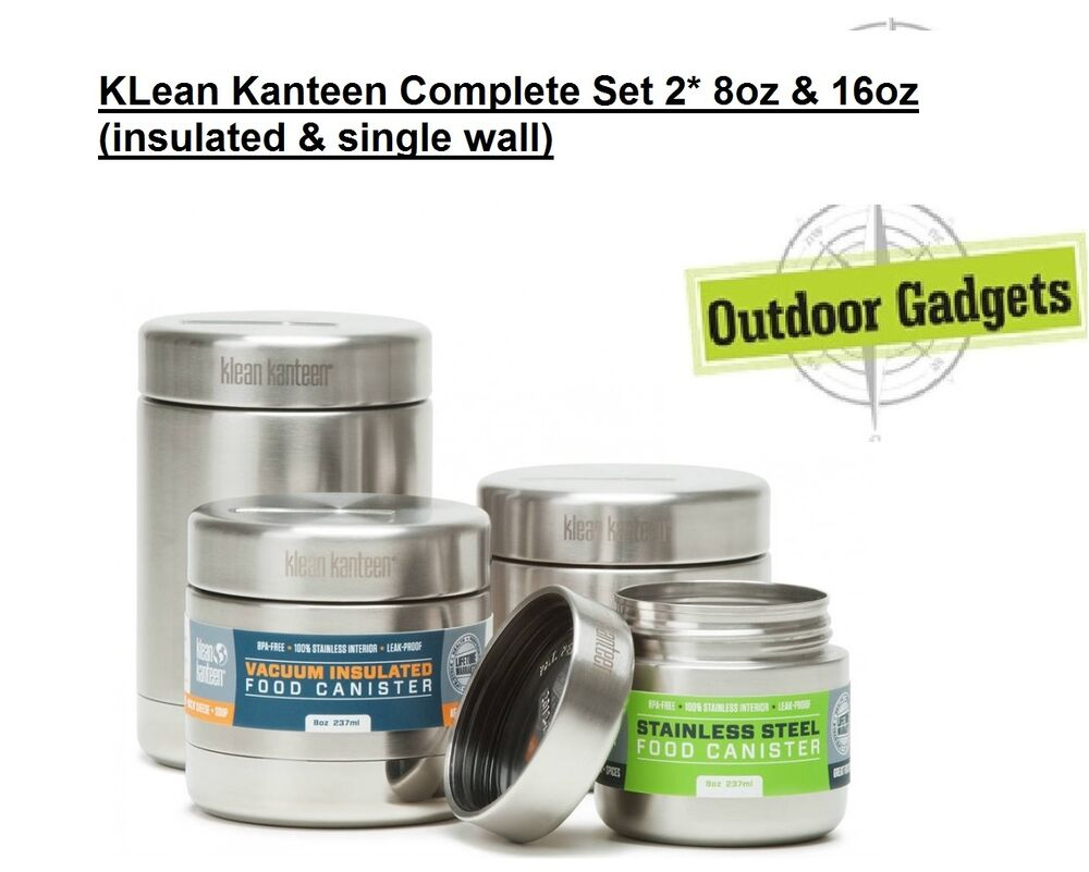 Klean kanteen food canister stainless 4 set complete set for Cuisines completes