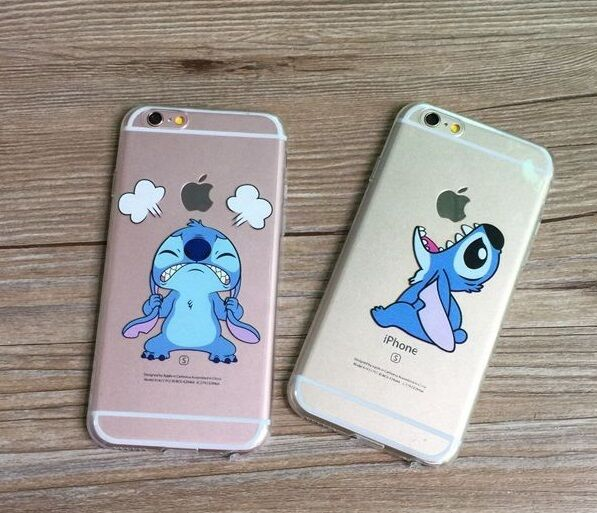 stitch phone case iphone 5s blue stitch emotion transparent cover for iphone 7987