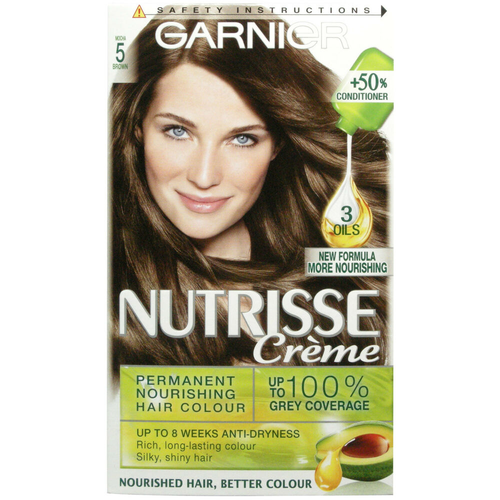 GARNIER NUTRISSE CREME 5 MOCHA BROWN HAIR COLOUR  EBay