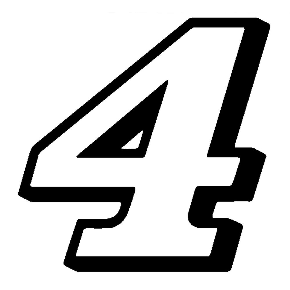Details about 2 5 kevin harvick number 4 window decals vinyl stickers stewart haas racing