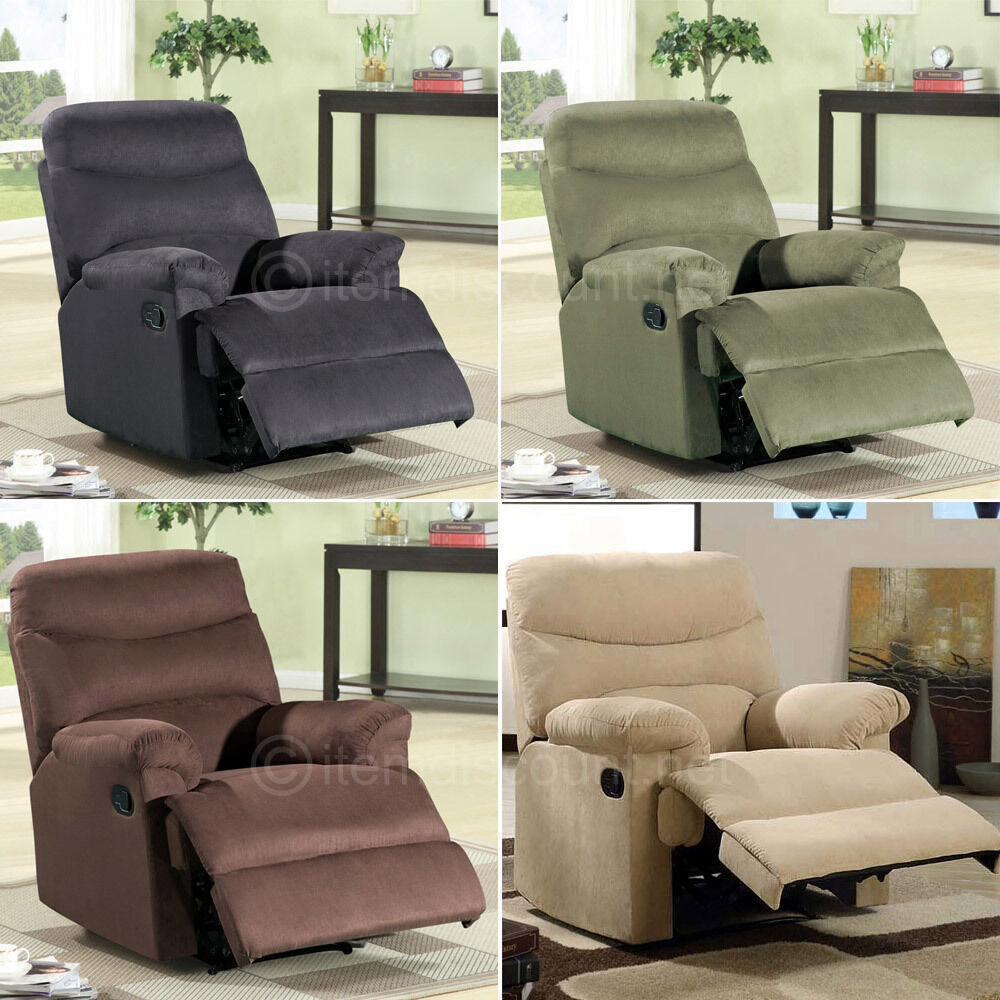 Microfiber Chaise Recliner Chair Reclining Seat Soft ...