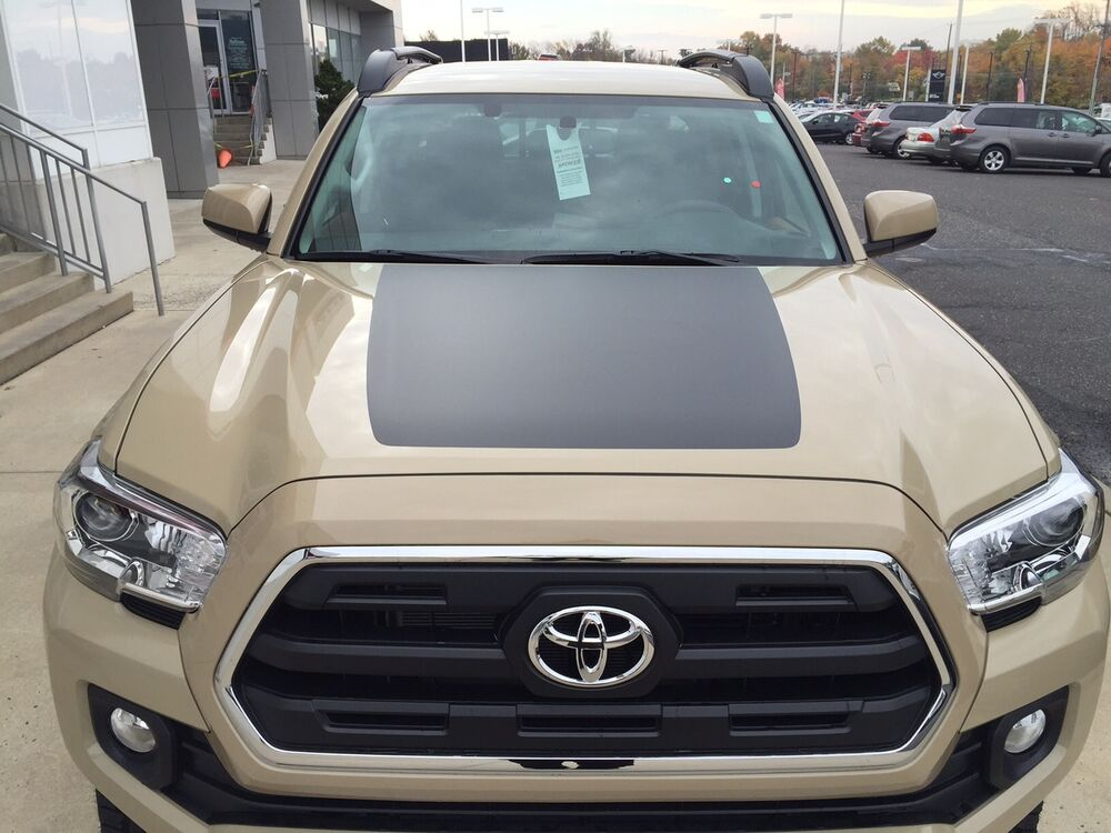 Toyota Tacoma 2016 17 Front Hood Decal Inlay Blackout