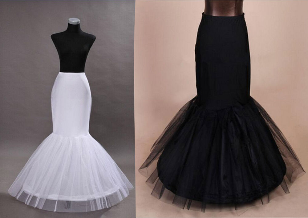 Fishtail mermaid prom wedding dress crinoline petticoat for Mermaid slip for wedding dress