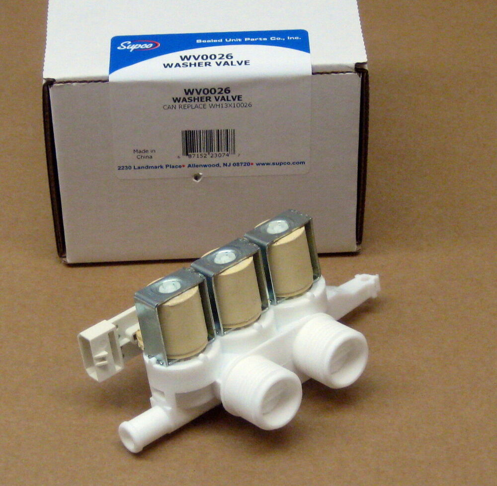 supco washing machine water valve wv0026 for ge wh13x10026 ap3995044 ps1482390 ebay. Black Bedroom Furniture Sets. Home Design Ideas