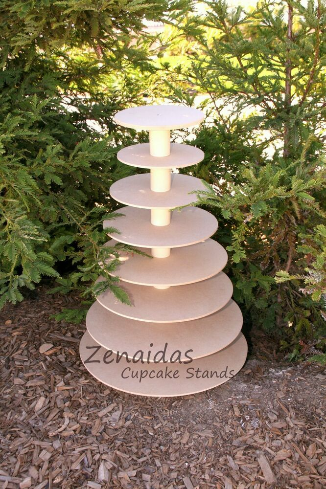 diy tiered wedding cake stand cupcake stand 8 tier mdf wood diy project cupcake 13625