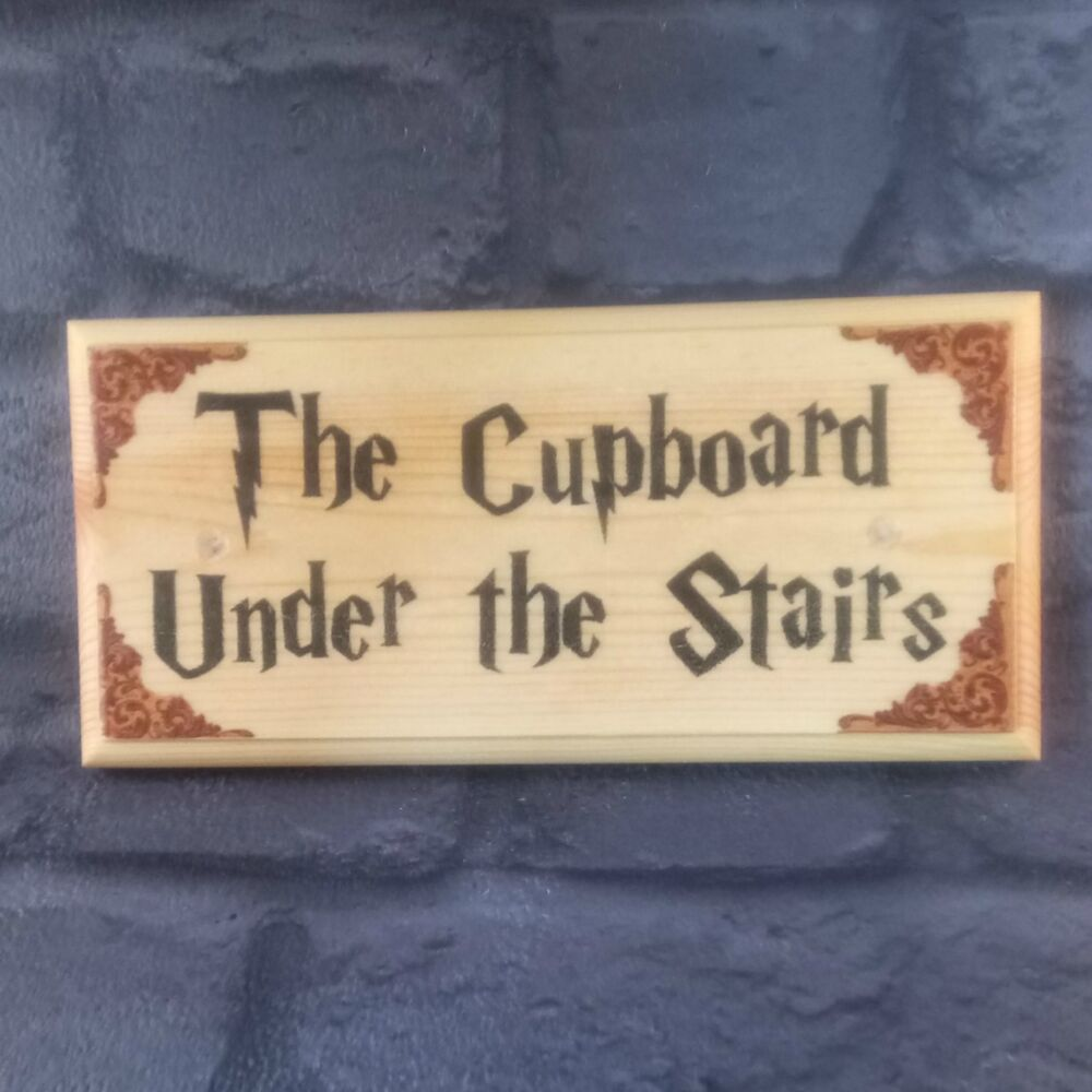 The Cupboard Under The Stairs Plaque Sign Gift Harry