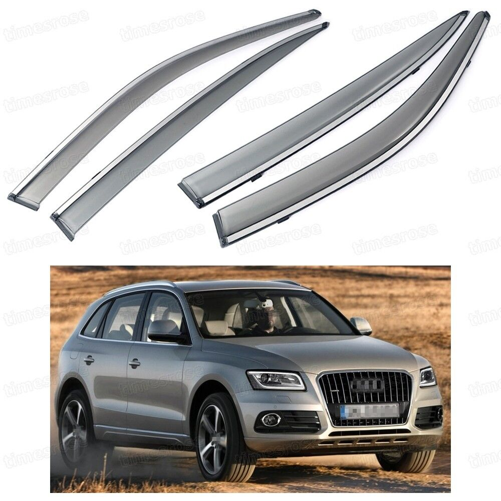 Car Front & Rear Window Visor Deflectors Vent Shade For