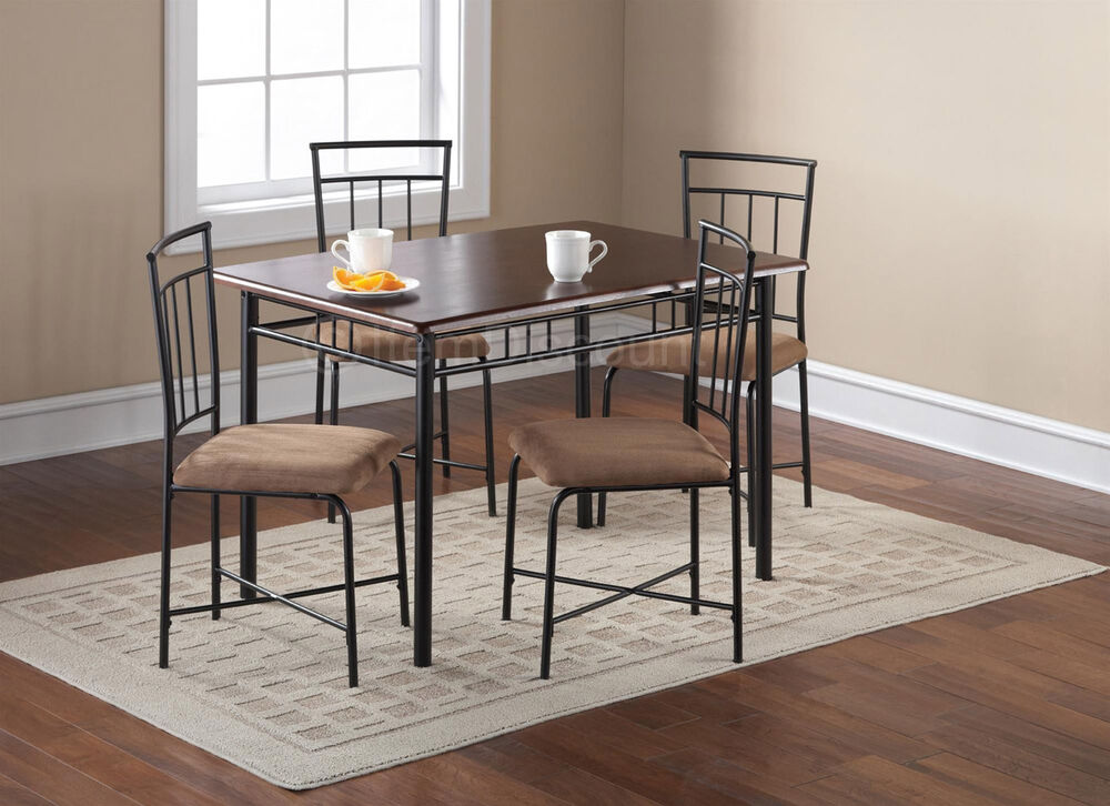 kitchen table set 4 upholstered chair breakfast dinette furniture