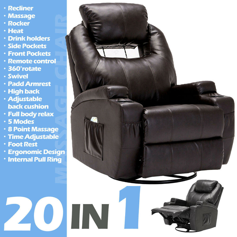 Electric Massage Recliner Sofa Chair Ergonomic Lounge