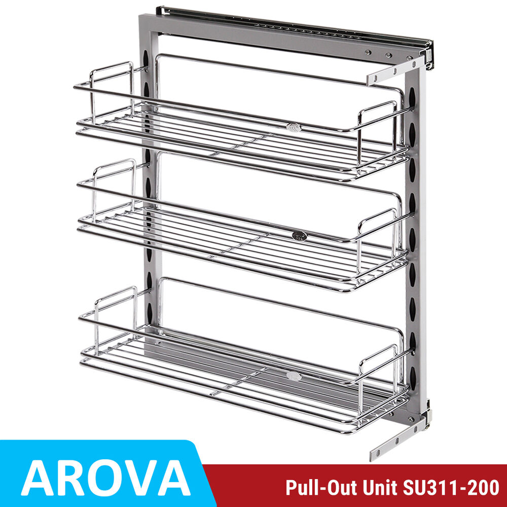 Pull Out Pantry Cabinet Ikea: Pull Out Pantry Organiser Kitchen Base Storage Wire Basket