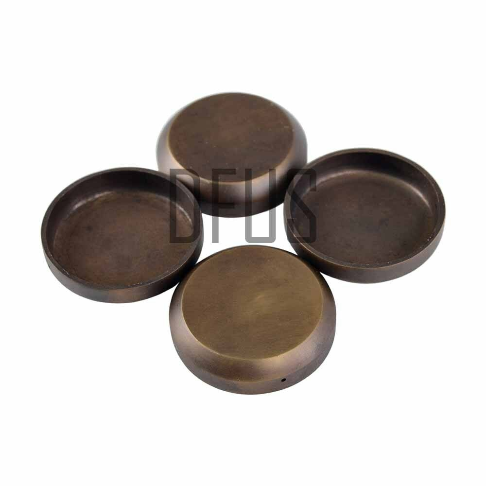 4x Solid Brass Antiqued Effect Cup Coasters 2 Carpet Floor Protector Cups Ebay