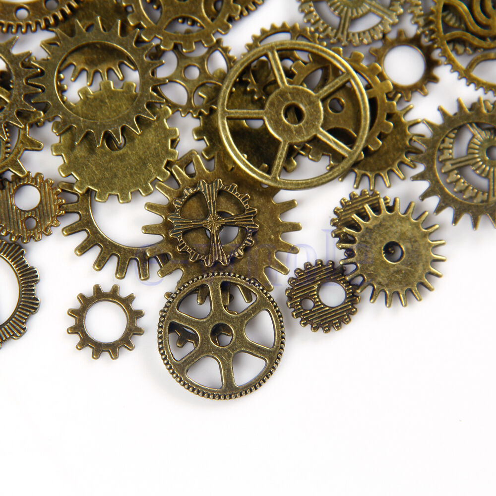 Is Steampunk Jewelry A Craft Or An Art: 20pcs Bronze Watch Parts Steampunk Cyberpunnk Cogs Gears