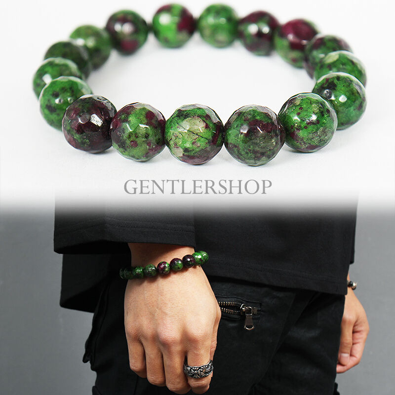 men 39 s fashion emerald green natural stone beads bracelet. Black Bedroom Furniture Sets. Home Design Ideas