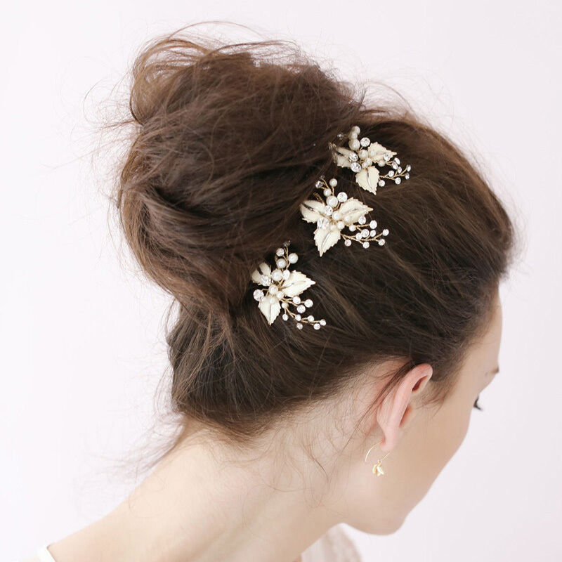 2pcs crystal rhinestone pearl flower wedding party bridal for Where to buy wedding accessories