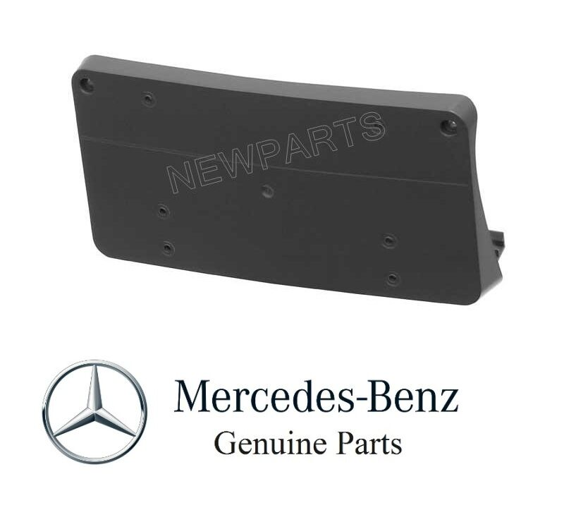 Genuine mercedes front bumper license plate base holder for Mercedes benz front license plate frame