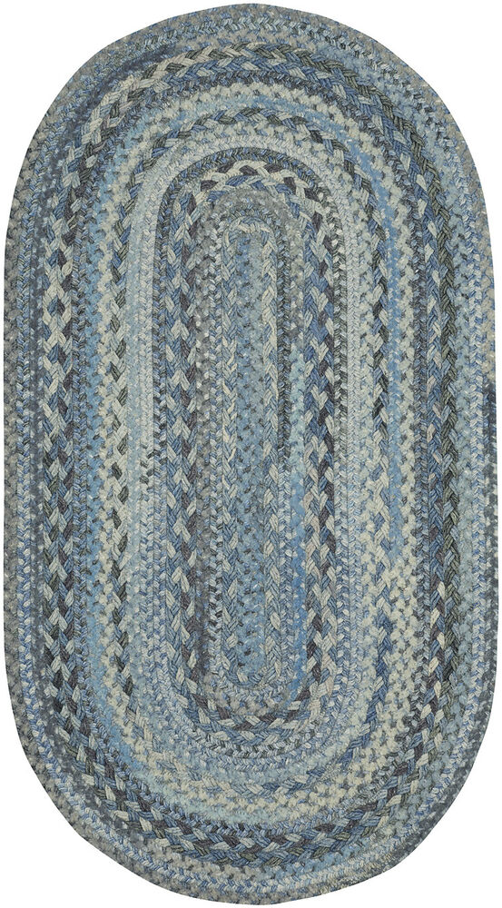 Capel Rugs Harborview Slate Blue Grayed Reversible Country