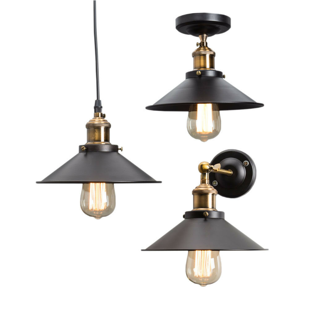 Wall Hanging Lights: Vintage Retro Industrial Metal DIY Loft Ceiling/ Pendant