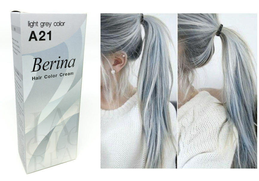 Berina A21 Light Grey Silver Permanent Hair Dye Color