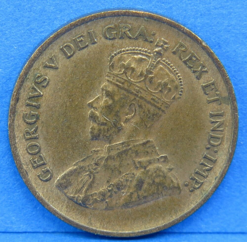 1932 Penny King George V Canadian One Cent Coin Canada Ebay
