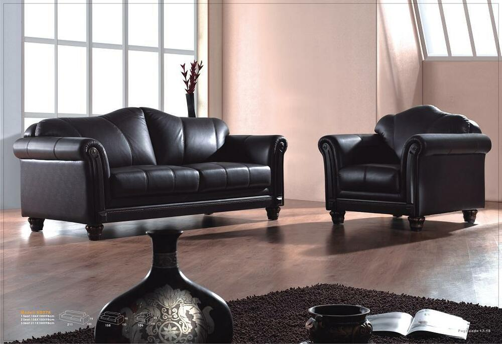 voll leder sofa garnitur kolonial stil polsterm bel sessel. Black Bedroom Furniture Sets. Home Design Ideas