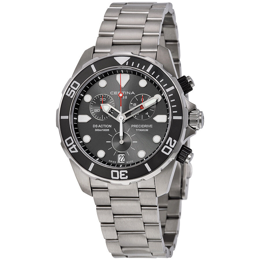 Certina ds action chronograph titanium mens watch ebay for Titanium watches
