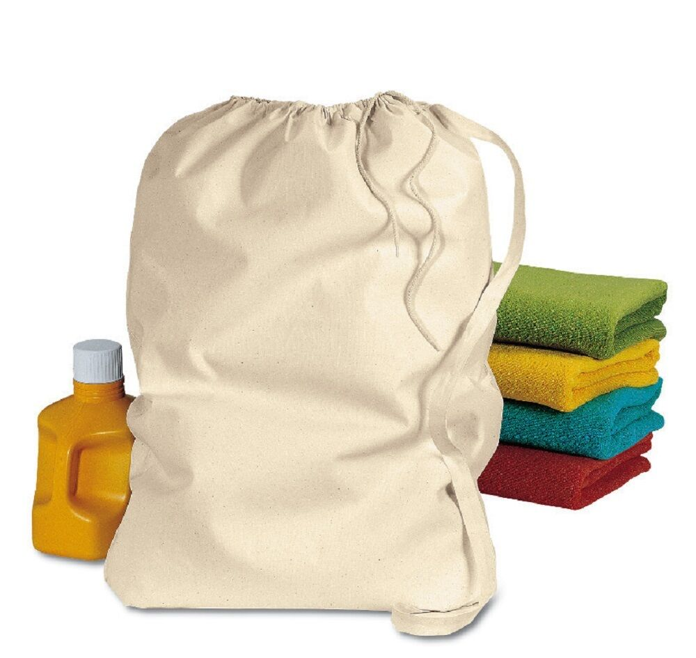 Large Size Drawstring Cotton Laundry Bags Ebay