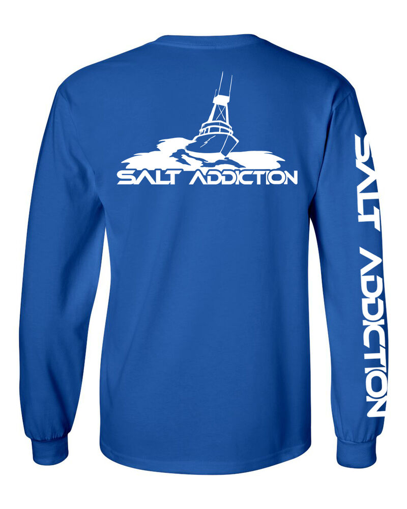 Salt addiction long sleeve saltwater fishing t shirt for Offshore fishing apparel