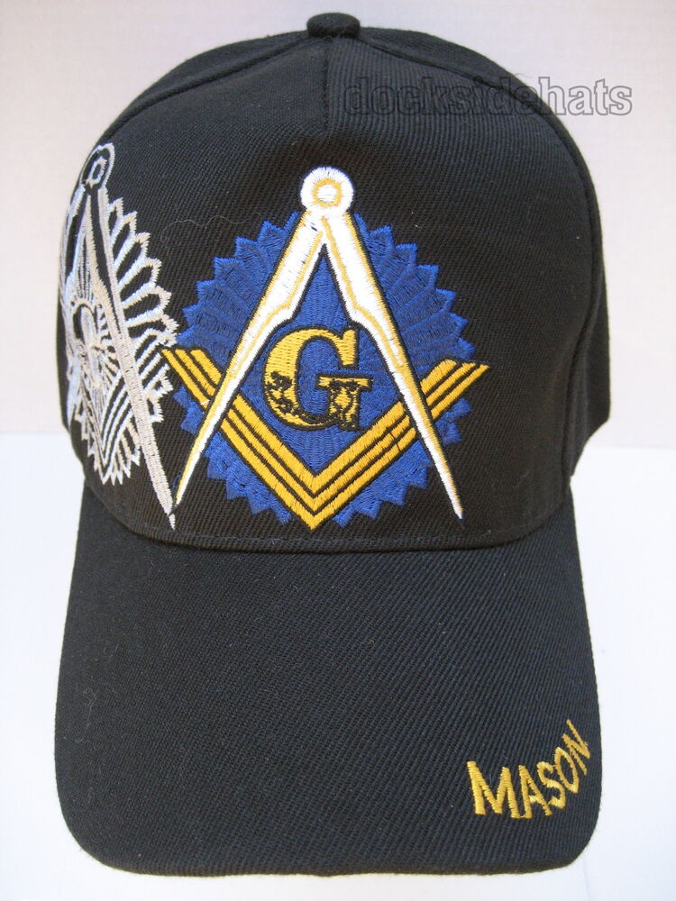 a14b9aa89 Details about MASONIC Hat/Cap Black New FREEMASON MASONIC LODGE **Free  Shipping**