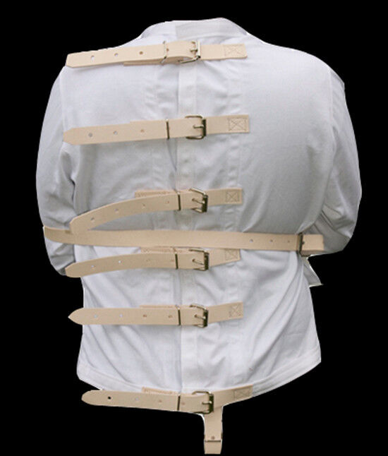 Restraint Straight Jacket w/ leather straps Large | eBay