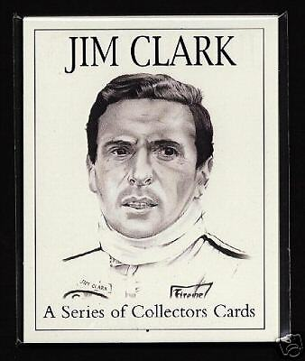 jim clark original sammler karten formel 1 lotus aston. Black Bedroom Furniture Sets. Home Design Ideas