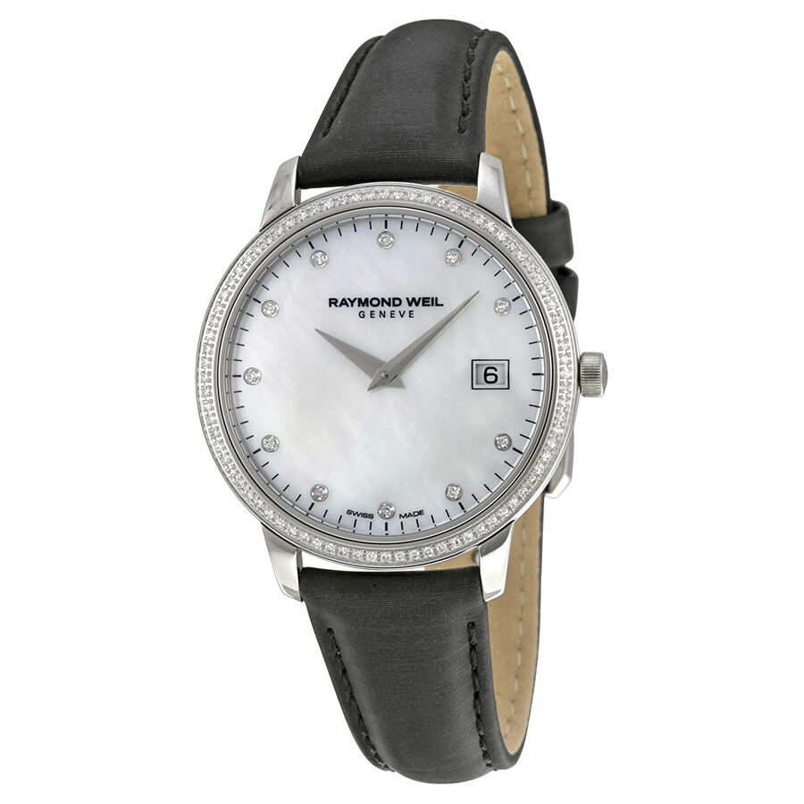 Raymond weil toccata mother of pearl diamond dial ladies watch 5388 sls 97081 ebay for Raymond watches