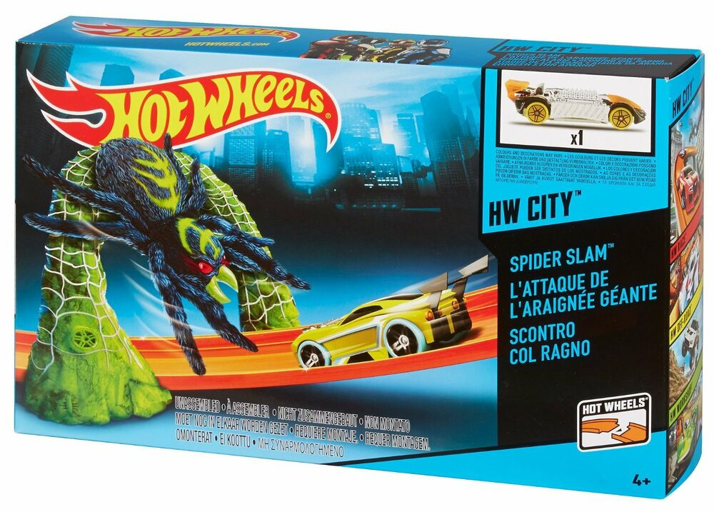 Toys For Boys Age 24 : Hot wheels city spider trap car race track ages new toy