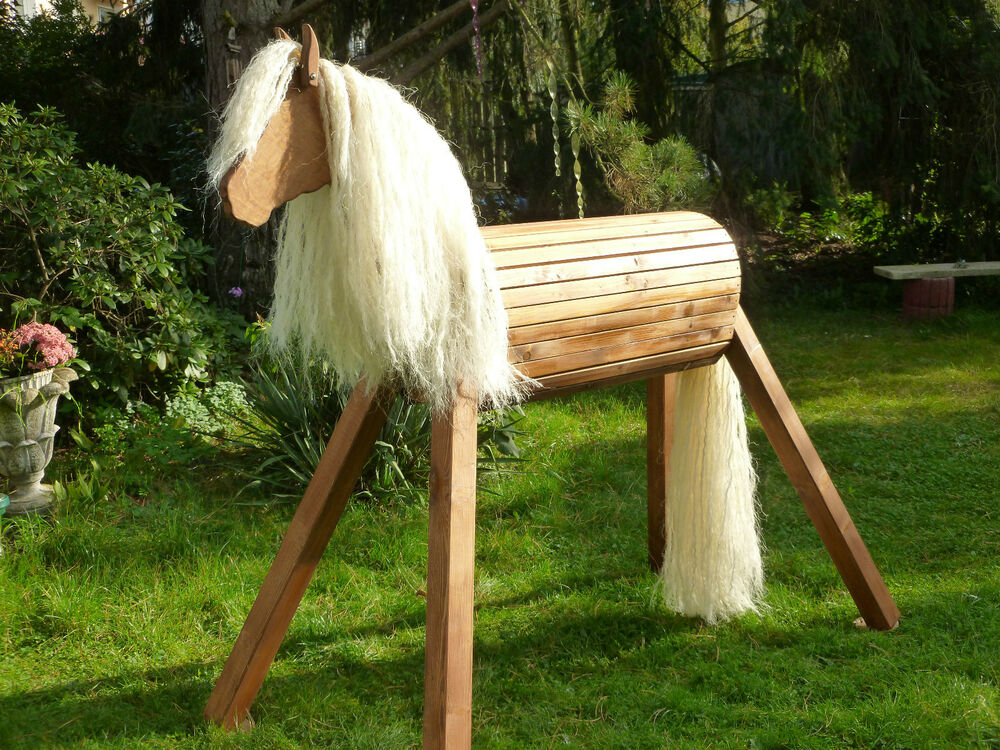 120cm haflinger holzpferd holzpony voltigierpferd spielpferd pferd pony neu ebay. Black Bedroom Furniture Sets. Home Design Ideas