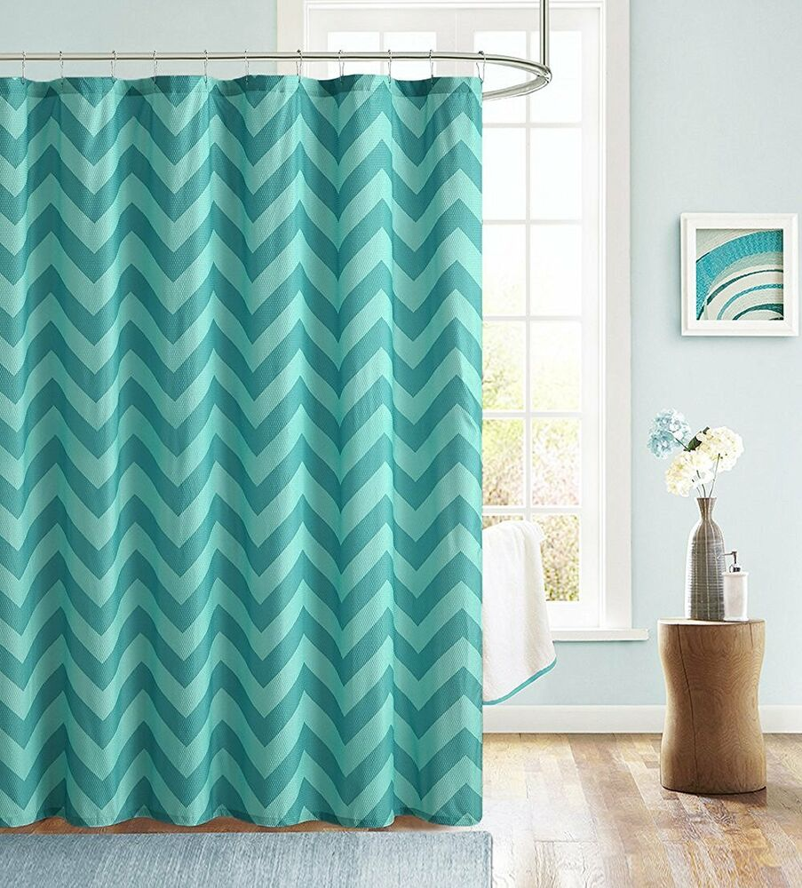 declan aqua blue teal chevron zig zag embossed fabric