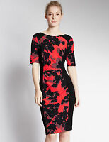 RRP £39.50 ex M&S MARKS AND SPENCER Floral Wrap Dress BNWOT Sizes 8 10 12 14 16