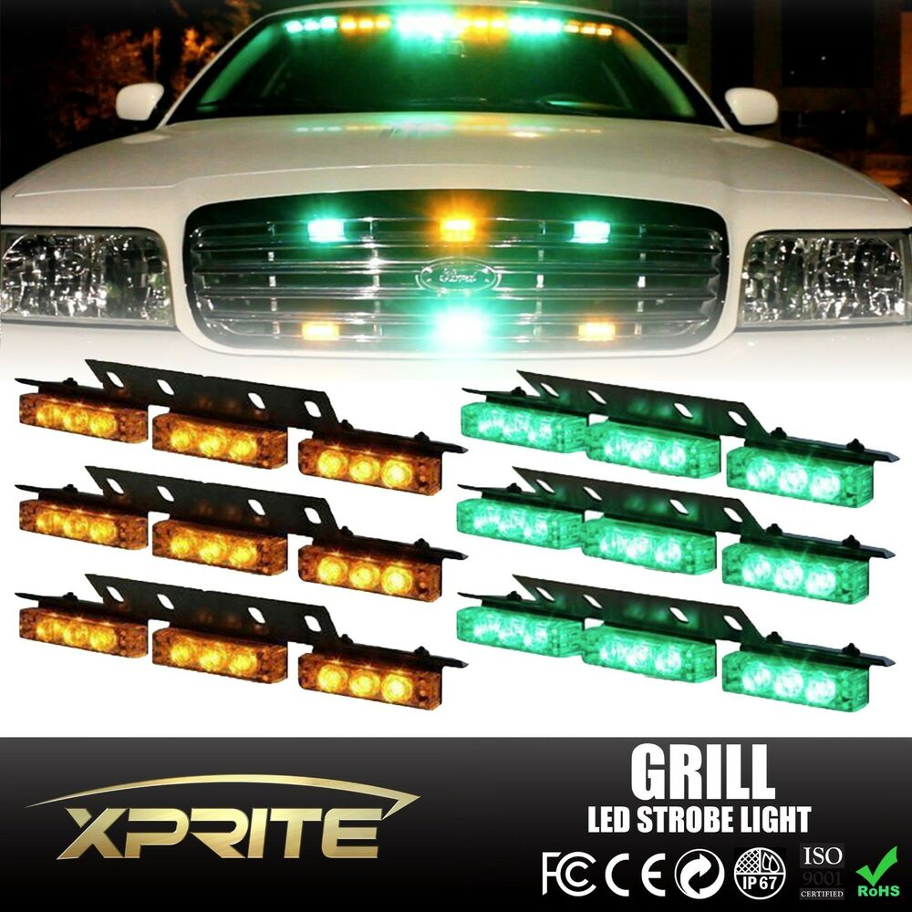 54 LED Emergency Hazard Strobe Light For Grill Deck Dash