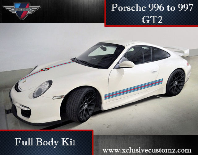 porsche 911 996 to 997 gt2 full body kit conversion ebay. Black Bedroom Furniture Sets. Home Design Ideas