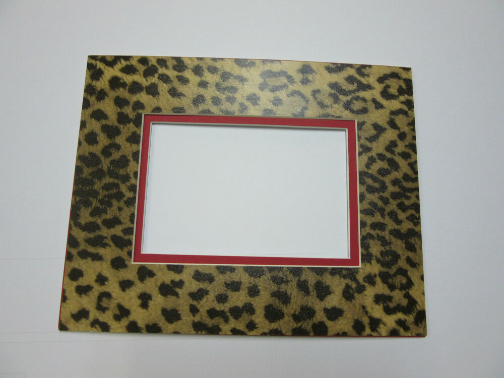 Picture Mat Leopard 11x14 For 8x10 Photo Cheetah Animal