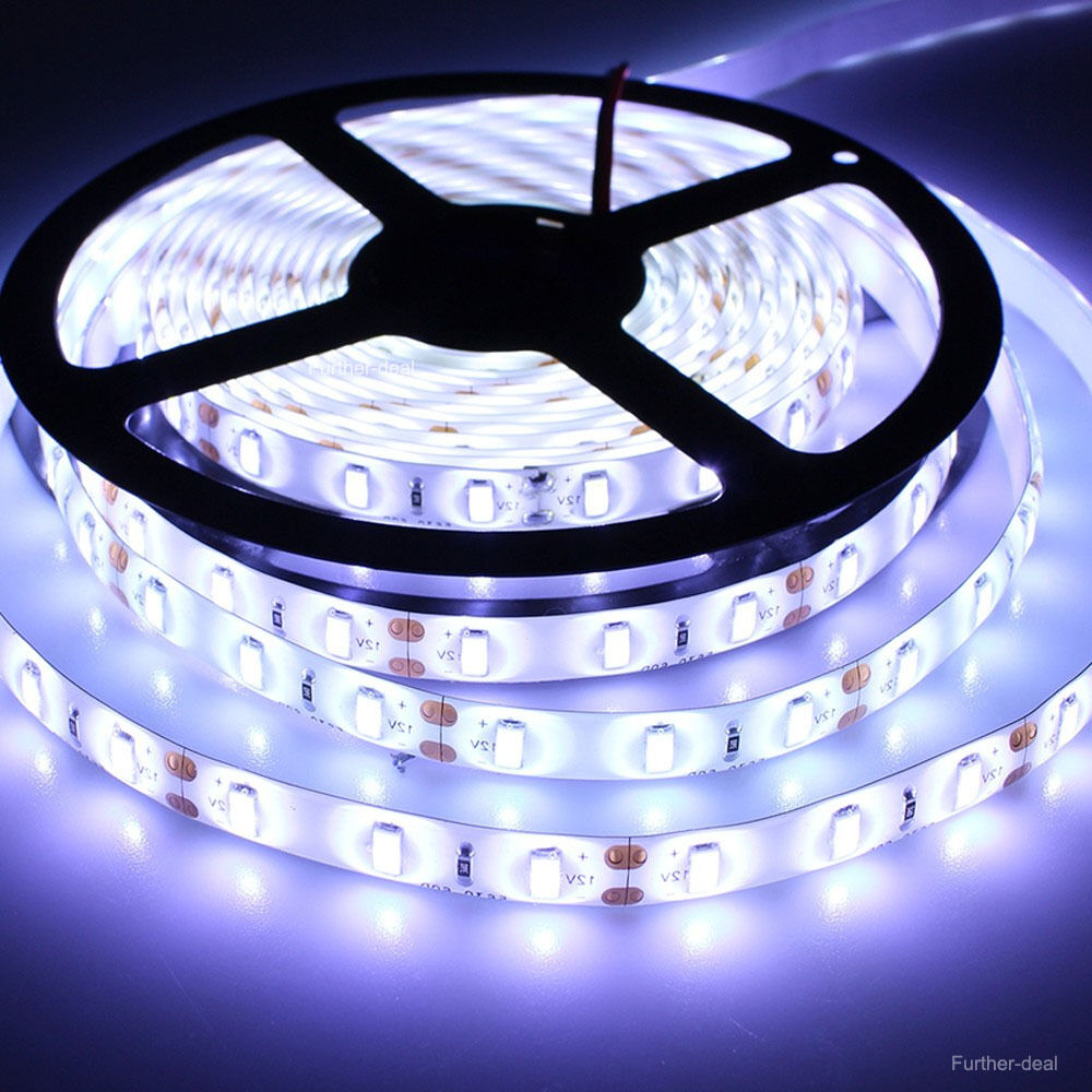 waterproof 5630 led strip light flexible lamp 5m 300leds cool white smd 12v ebay. Black Bedroom Furniture Sets. Home Design Ideas