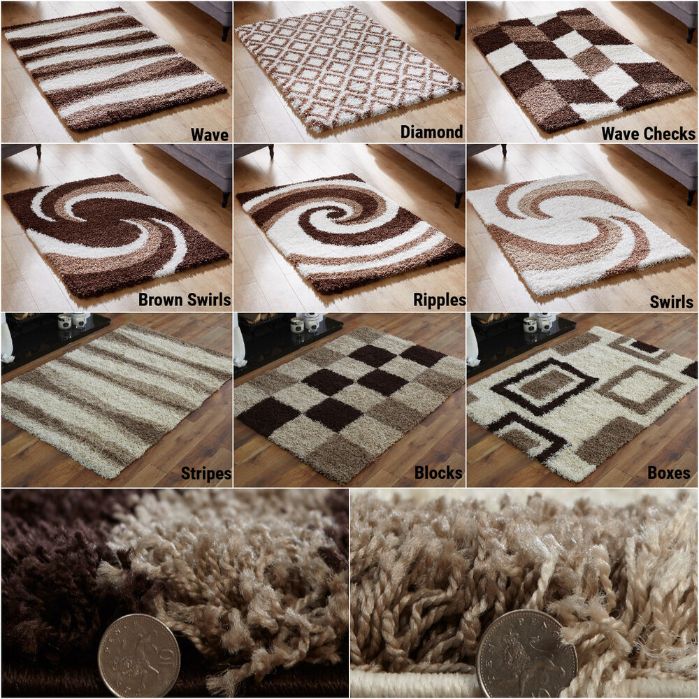 Quality Thick Soft Rug Modern 5cm High Small Extra Large