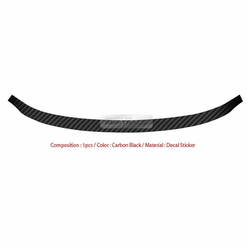 carbon rear bumper protector decal sticker cover for kia