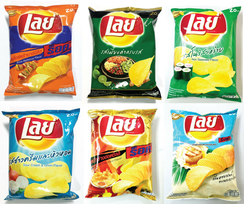 Lays Potato Chip Crispy Fried Snack 52g, 6 Flavor for you ...