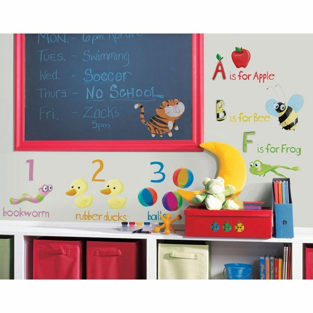 Roommates Wall Stickers : Education station abc wall stickers room decor school