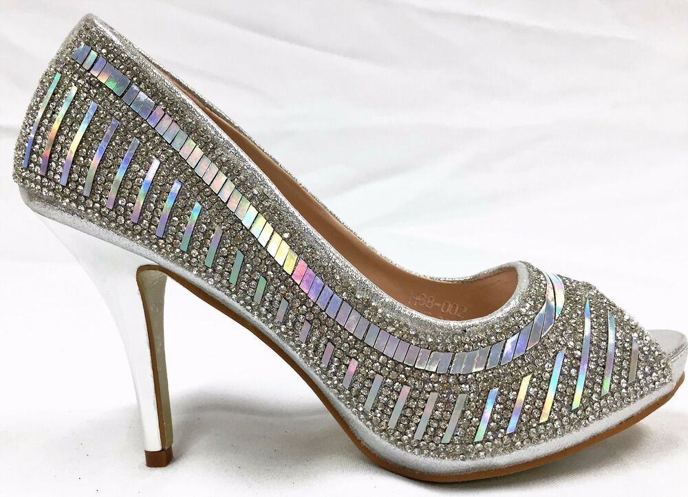 Rhinestone Bridal Shoes Low Heel