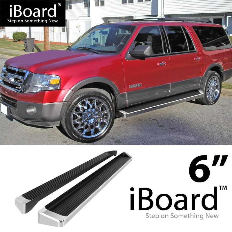 "6"" IBoard Nerf Bars Fit Ford Expedition EL 07-16"