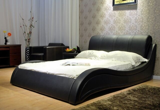 wave platform bed greatime b1130 modern wave like shape platform bed with 13794