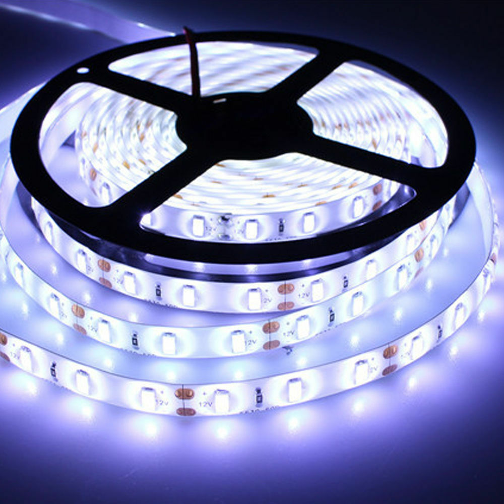 5m 300leds 5050 cool white super bright led strip smd light waterproof 12v dc ebay. Black Bedroom Furniture Sets. Home Design Ideas