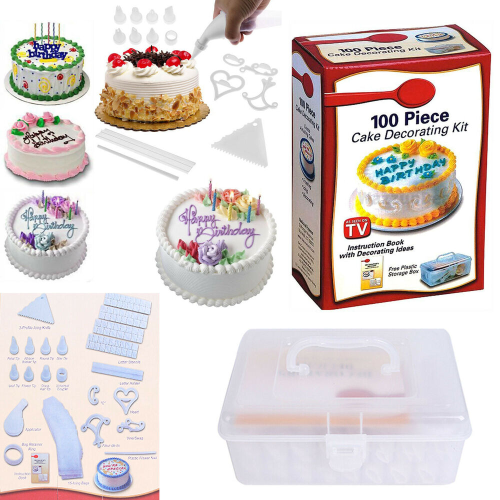 Cake Decorating Icing And A Cake Box : 100 Piece DIY Cookies Muffin Cake Icing Decorating Making ...